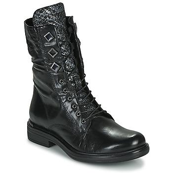 Schuhe Damen Boots Mjus CAFE METAL Schwarz