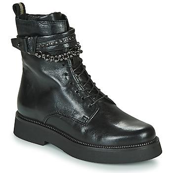 Schuhe Damen Boots Mjus TRIPLE STRAP Schwarz