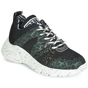 Schuhe Damen Sneaker Low Meline LETTE Schwarz / Grün