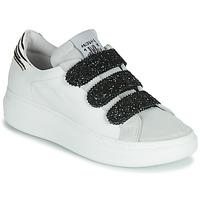 Schuhe Damen Sneaker Low Meline SCRATCHO Weiss / Glitterfarbe