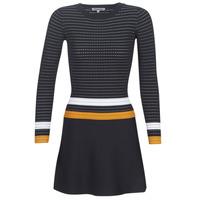 Kleidung Damen Kurze Kleider Morgan ROXFA Marine / Weiss / Gelb