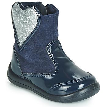 Schuhe Mädchen Boots Gioseppo BUCKLAND Marine / Silbern