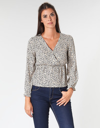 Kleidung Damen Tops / Blusen Betty London LOVA Beige / Schwarz
