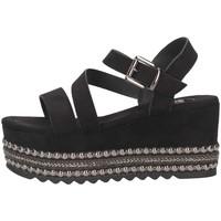 Schuhe Damen Sandalen / Sandaletten Exé Shoes Exe' MACAU-736 BLACK Sandalen Frau schwarz schwarz