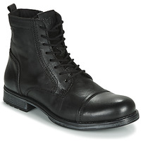 Schuhe Herren Boots Jack & Jones JFW RUSSEL LEATHER Schwarz