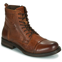 Schuhe Herren Boots Jack & Jones JFW RUSSEL LEATHER Cognac