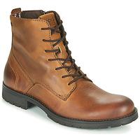 Schuhe Herren Boots Jack & Jones JFW ORCA LEATHER Cognac