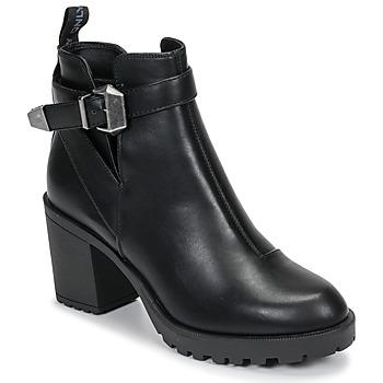 Schuhe Damen Low Boots Only BARBARA HEELED Schwarz