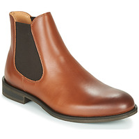 Schuhe Herren Boots Selected LOUIS LEATHER CHELSEA Cognac