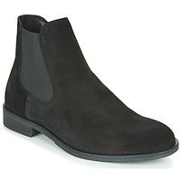 Schuhe Herren Boots Selected LOUIS SUEDE CHELSEA Schwarz