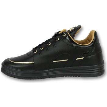 Schuhe Herren Sneaker Low Cash Money Sneaker Luxury Black Schwarz