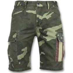 Kleidung Herren Shorts / Bermudas Enos Kurze Jeanshosen Für Shorts Jeans Grün