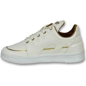 Schuhe Herren Sneaker Low Cash Money E Schnür Sneaker Luxury White Weiß