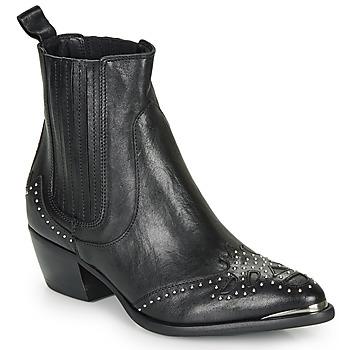 Schuhe Damen Low Boots Ikks BP80075-03 Schwarz