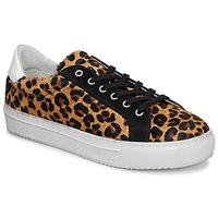 Schuhe Damen Sneaker Low Ikks BP80245-62 Leopard