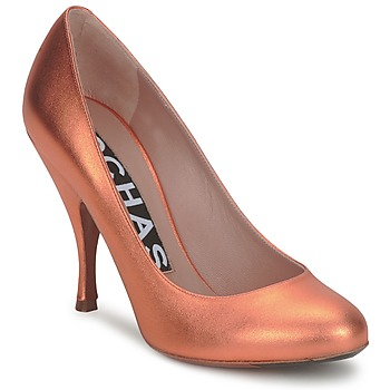 Schuhe Damen Pumps Rochas RO18061-90 Metallic-orange
