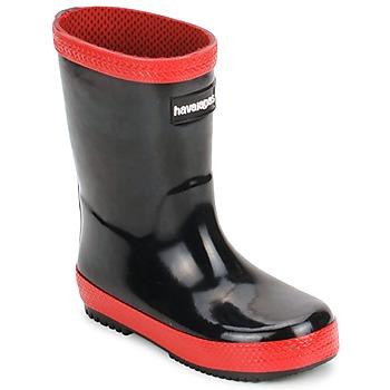 Schuhe Kinder Gummistiefel Havaianas RAIN BOOTS Schwarz / Rot