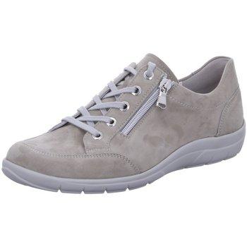 Schuhe Damen Sneaker Low Semler Schnuerschuhe SAMT-CHEVRO M8635042/094 beige