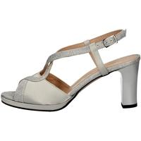 Schuhe Damen Sandalen / Sandaletten Soffice Sogno E9394 SILVER