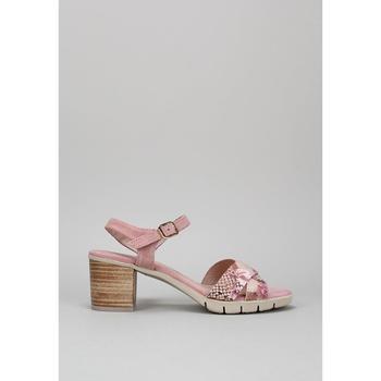 Schuhe Leinen-Pantoletten mit gefloch Sandra Fontan PERLA Rose