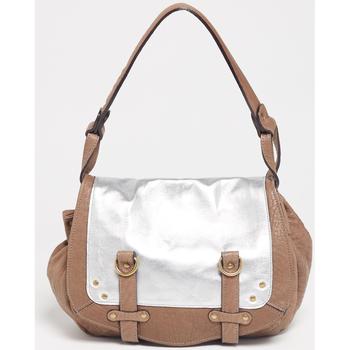 Taschen Damen Umhängetaschen Abaco Paris MINI JAMILY BICOLORE TAUPE ARGENT