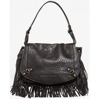 Taschen Damen Umhängetaschen Abaco Paris MINI JAMILY FRANGES NOIR
