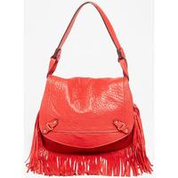 Taschen Damen Umhängetaschen Abaco Paris MINI JAMILY FRANGES ROUGE