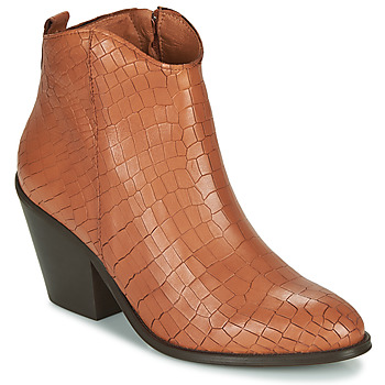 Schuhe Damen Low Boots Fericelli LISA Braun