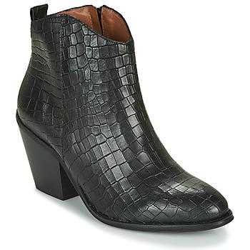 Schuhe Damen Low Boots Fericelli LISA Schwarz