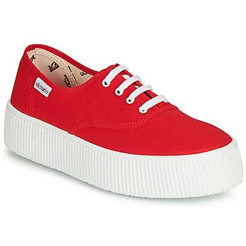 Schuhe Damen Sneaker Low Victoria 1915 DOBLE LONA Rot