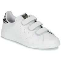 Schuhe Damen Sneaker Low Victoria TENIS VELCRO PIEL Weiss