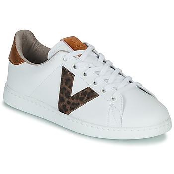 Schuhe Damen Sneaker Low Victoria TENS PRINT Weiss