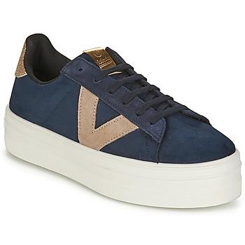 Schuhe Damen Sneaker Low Victoria BARCELONA DEPORTIVO Marine / Beige