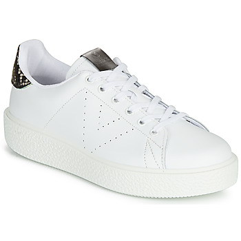 Schuhe Damen Sneaker Low Victoria UTOPIA RELIEVE PIEL Weiss