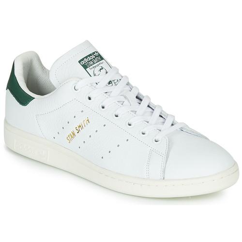 Schuhe Sneaker Low adidas Originals STAN SMITH Weiss / Grün