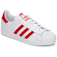 Schuhe Sneaker Low adidas Originals SUPERSTAR Weiss / Rot