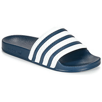 Schuhe Pantoletten adidas Originals ADILETTE Blau / Weiss