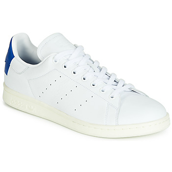 Schuhe Sneaker Low adidas Originals STAN SMITH Weiss / Blau / Karriert