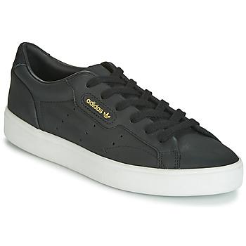 Schuhe Damen Sneaker Low adidas Originals SLEEK W Schwarz