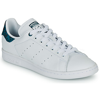 Schuhe Damen Sneaker Low adidas Originals STAN SMITH W Weiss / Blau / Beige / marine