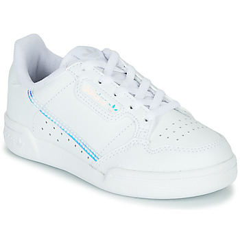 Schuhe Kinder Sneaker Low adidas Originals CONTINENTAL 80 C Weiss / Blau