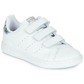 Schuhe Mädchen Sneaker Low adidas Originals STAN SMITH CF C Weiss / Silbern