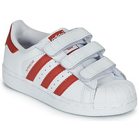 Schuhe Kinder Sneaker Low adidas Originals SUPERSTAR CF C Weiss / Rot