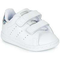 Schuhe Mädchen Sneaker Low adidas Originals STAN SMITH CF I Weiss / Silbern