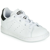 Schuhe Kinder Sneaker Low adidas Originals STAN SMITH EL I Weiss / Schwarz