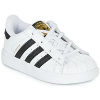 Schuhe Kinder Sneaker Low adidas Originals SUPERSTAR I Weiss / Schwarz