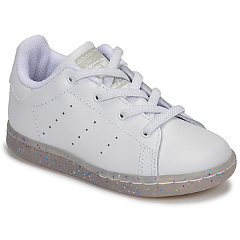 Schuhe Mädchen Sneaker Low adidas Originals STAN SMITH EL I Weiss / Glitterfarbe