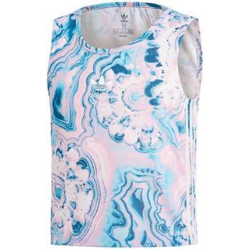 Kleidung Mädchen Tops Adidas Kids MARBLE CRP TANK blau