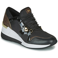 Schuhe Damen Sneaker Low MICHAEL Michael Kors LIV TRAINER Schwarz / Braun
