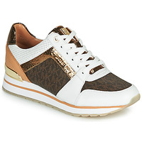 Schuhe Damen Sneaker Low MICHAEL Michael Kors BILLIE TRAINER Weiss / Braun